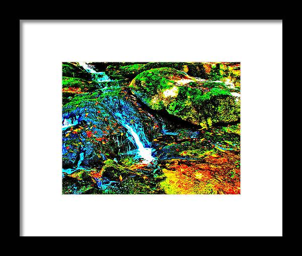Landscape Framed Print featuring the photograph Brook Texture 86 by George Ramos