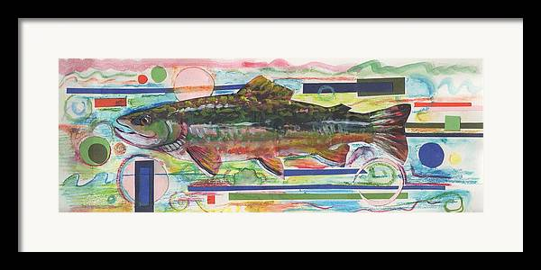 Trout Framed Print featuring the painting Brook Trout 1 by Michelle Grove