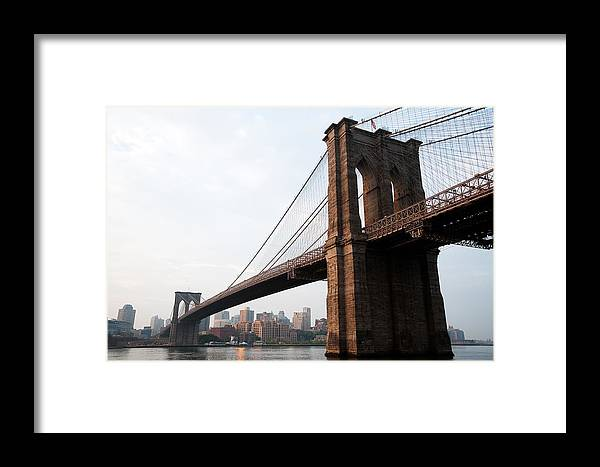 Historic Framed Print featuring the photograph Brooklyn Bridge by Leslie Philipp