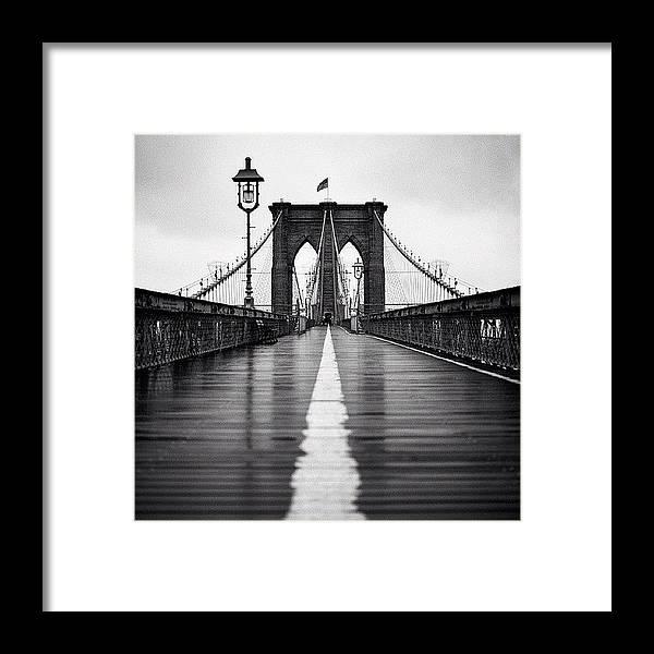 Summer Framed Print featuring the photograph Brooklyn Bridge by Randy Lemoine