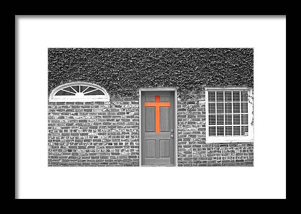Black And White Brown Photography Framed Print featuring the photograph Brown by Lenroy Johnson