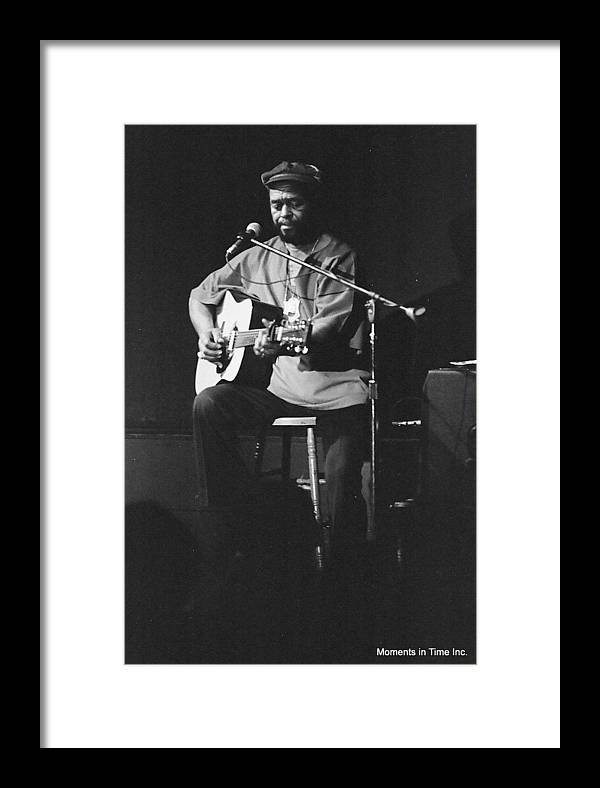 Music Framed Print featuring the photograph Brownie Mcgee 1960s by Glenn McCurdy