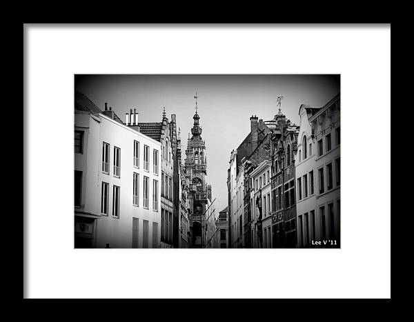 Brussels Framed Print featuring the photograph Brussels In Black And White by Lee Versluis