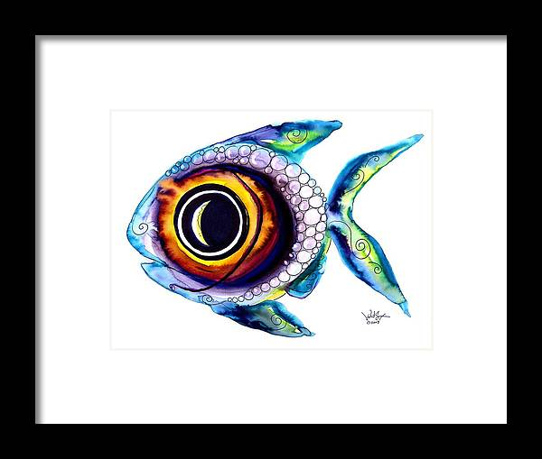 Fish Framed Print featuring the painting Bubble Fish One by J Vincent Scarpace