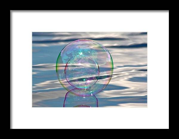 Bubble Framed Print featuring the photograph Bubble In A Bubble by Cathie Douglas