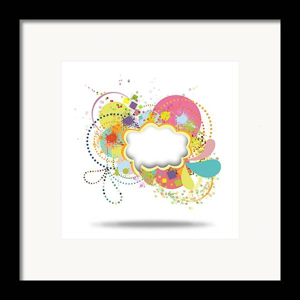 Art Framed Print featuring the painting Bubble Speech by Setsiri Silapasuwanchai