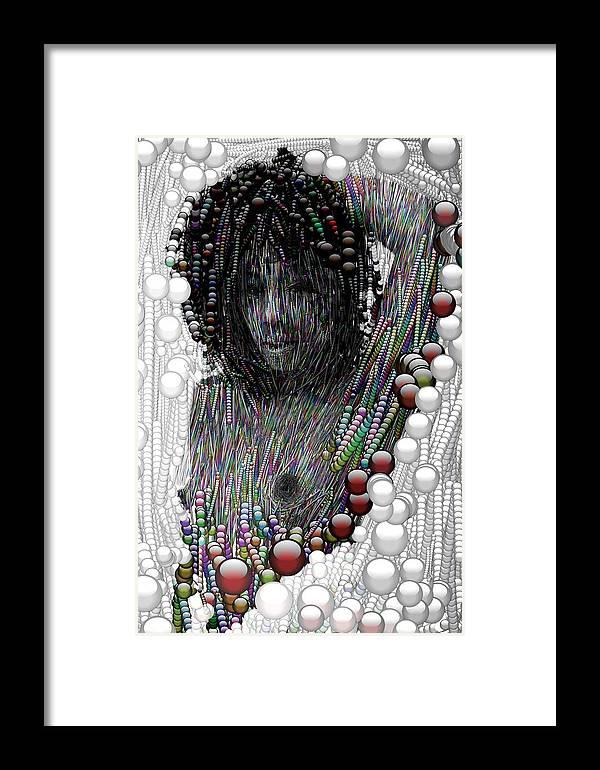 Bubble Woman Framed Print featuring the digital art Bubble Woman by Bogdan Floridana Oana