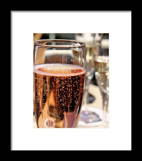 Wine Framed Print featuring the photograph Bubbles by Nicole Fleckenstein