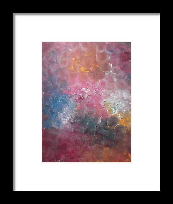 Bubblewrap Framed Print featuring the painting Bubblewrap by Sharon Tuff