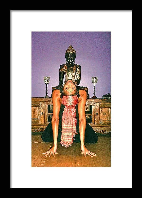 Yoga Framed Print featuring the photograph Buddha Is Watching You by Dieter Lesche
