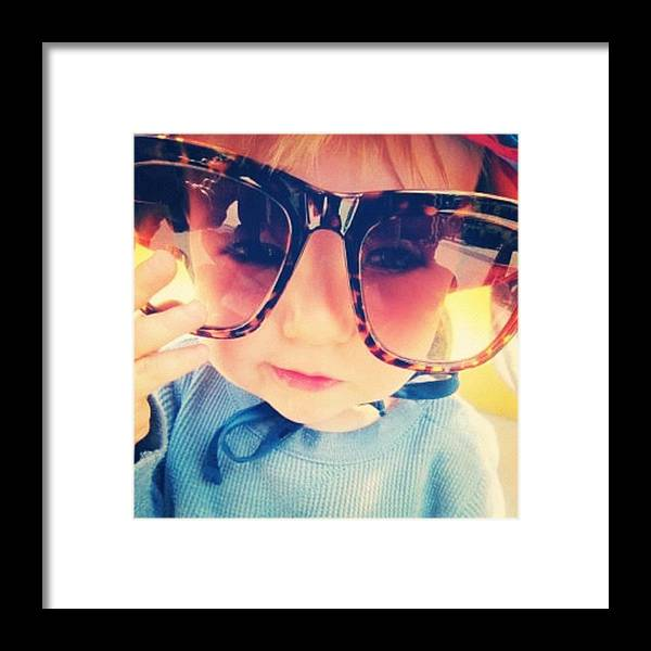 Framed Print featuring the photograph Buggy Eyed Boy by Stephanie Brown