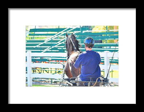 Horse Framed Print featuring the photograph Buggy Ride by Valarie Davis