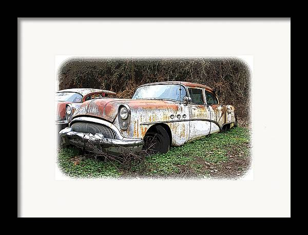 Buick Framed Print featuring the photograph Buick Yard by Steve McKinzie