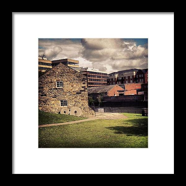 Building Framed Print featuring the photograph #building #green #uk #england #york Or by Abdelrahman Alawwad