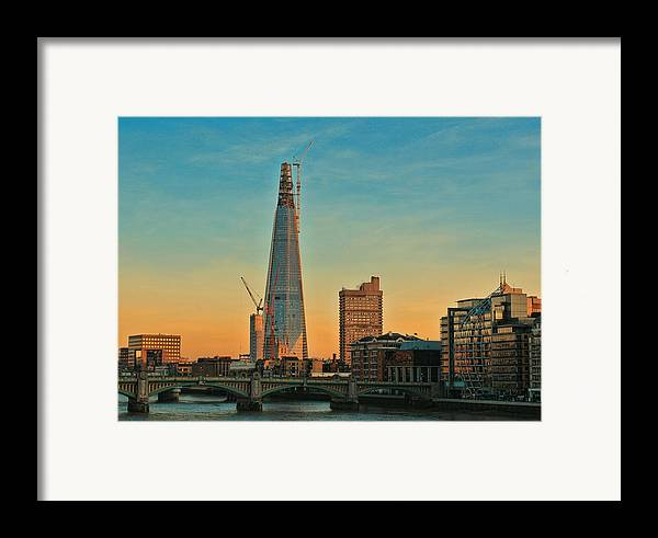 Shard London Bridge Framed Print featuring the photograph Building Shard by Jasna Buncic