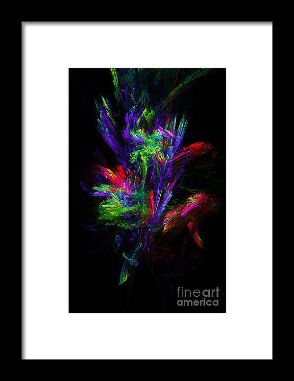 Bunch Framed Print featuring the digital art Bunch Of Flowers by Klara Acel