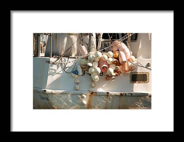 Buoys Framed Print featuring the photograph Buoys by Christine Stonebridge