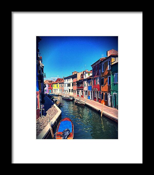 Burano Framed Print featuring the photograph Burano by Anna Andretta