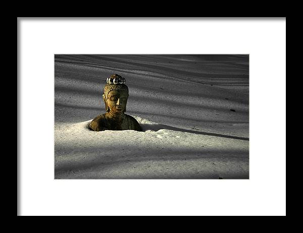 Buddha Framed Print featuring the photograph Buried Buddha by Christine Gauthier