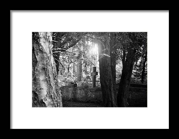 Grave Framed Print featuring the photograph Buried In The Woods by Kevin Askew
