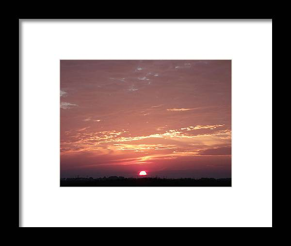 Burnt Red Sunset Framed Print featuring the photograph Burnt Red Sunset by Brian Maloney