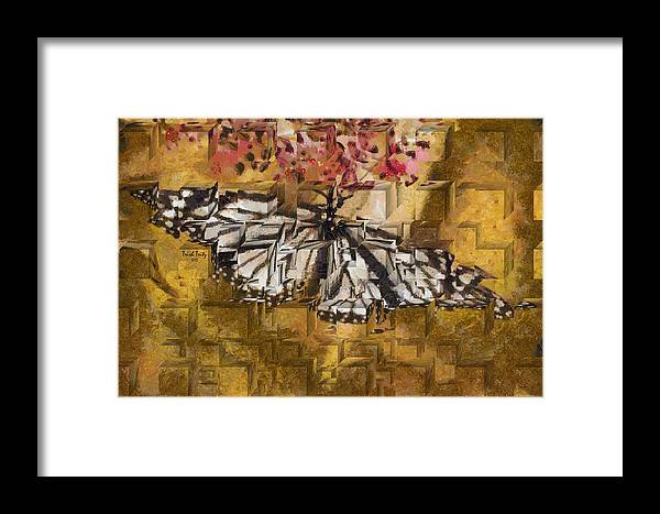 Butterfly Framed Print featuring the photograph Butter Can't Fly by Trish Tritz