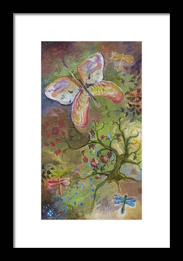 Butterflies Framed Print featuring the painting Butterfly Daydream by Elizabeth Clary-Boyd