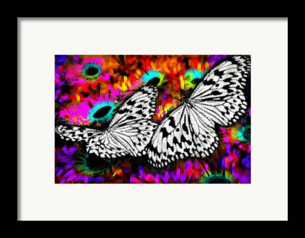 Nature Framed Print featuring the digital art Butterfly by Ilias Athanasopoulos