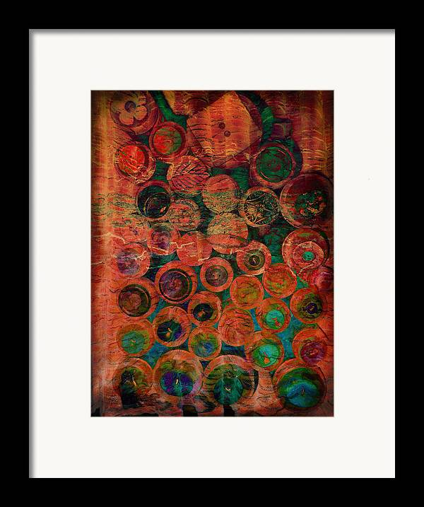 Abstract Framed Print featuring the photograph Buttons by Ann Powell