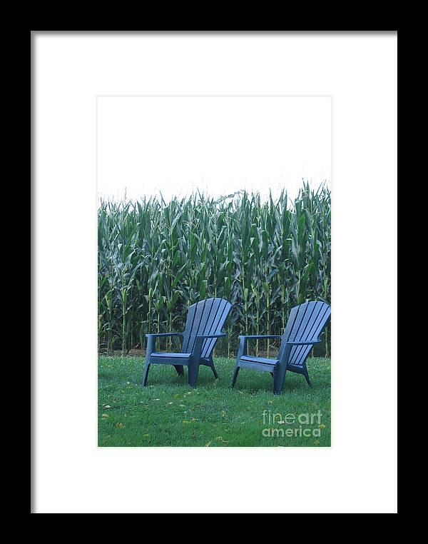 Pennsylvania Farm Framed Print featuring the photograph By The Cornfield by Marlene Robbins