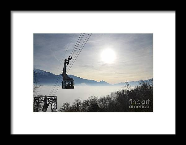 Cableway Framed Print featuring the photograph Cabelcar by Mats Silvan