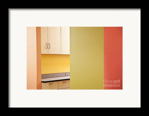Architecture Framed Print featuring the photograph Cabinets In An Office Supply Room by Jetta Productions, Inc