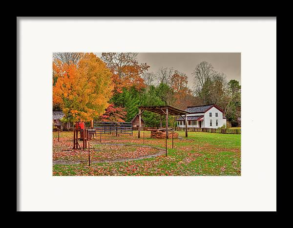 2010 Framed Print featuring the photograph Cable Mill Yard II by Charles Warren