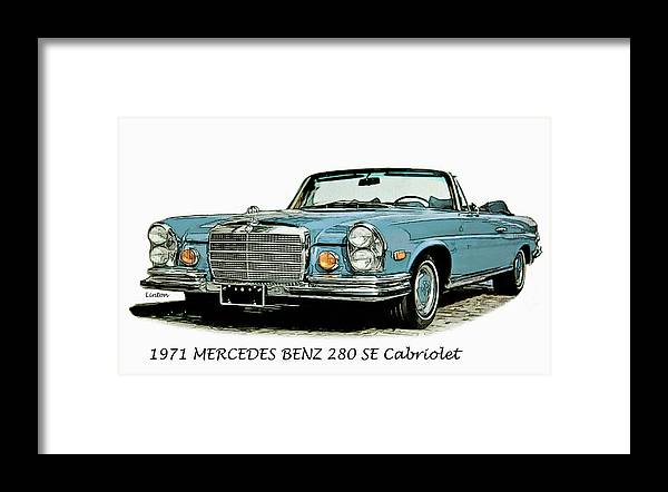 Mercedes Benz Framed Print featuring the digital art Cabriolet by Larry Linton