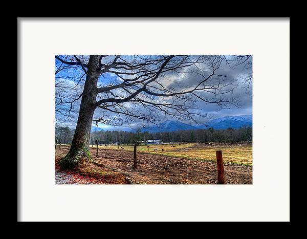 Appalachia Framed Print featuring the photograph Cades Cove Lane by Debra and Dave Vanderlaan