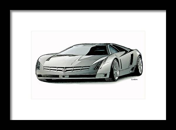 Cadillac Framed Print featuring the digital art Cadillac by Larry Linton