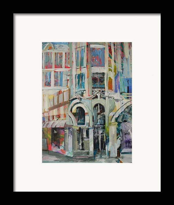 Cafe Framed Print featuring the painting Cafe In Paris by Carol Mangano