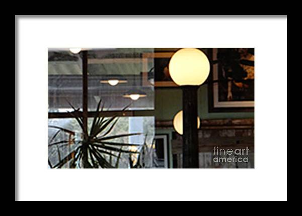Cafe Framed Print featuring the photograph Cafe by Laura Salazar