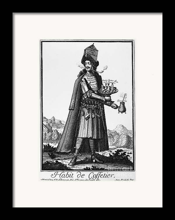 1690 Framed Print featuring the photograph Cafe Owner, C1690 by Granger