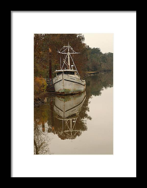 Boat Framed Print featuring the photograph Cajun Shrimp Boat by Ronald Olivier