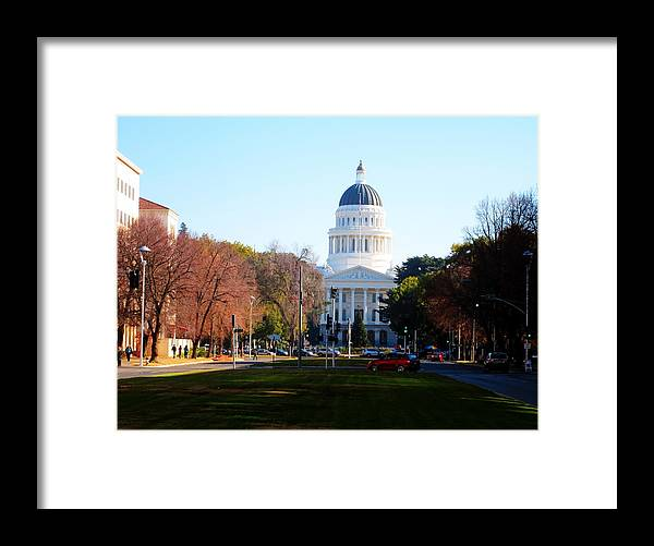 Building Framed Print featuring the photograph California Capitol Building-3 by Barry Jones