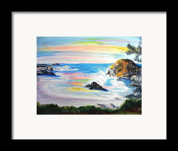 California Coast Framed Print featuring the painting California Coast by Susan Clark
