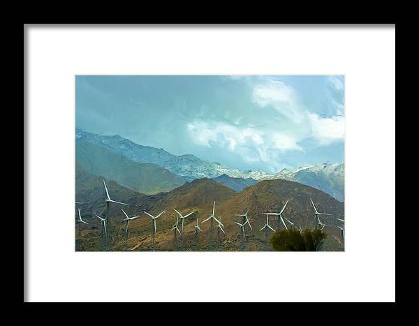 Snow Framed Print featuring the photograph California Desert In Winter by Heidi Smith