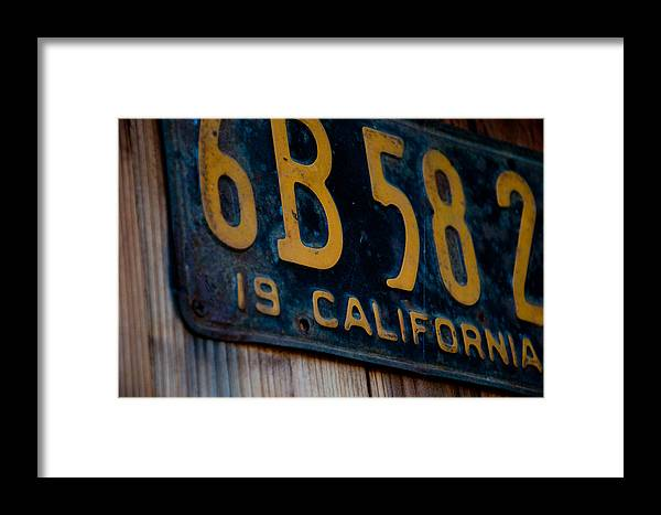 Vintage Framed Print featuring the photograph California Plate II by Heidi Reyher