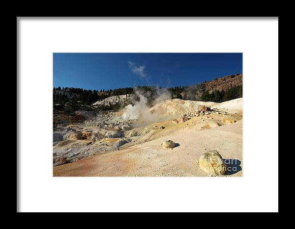 Lassen Volcanic National Park Framed Print featuring the photograph California Thermals by Adam Jewell