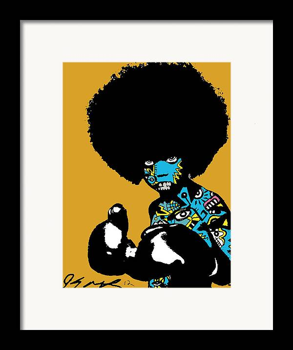 Boxer Framed Print featuring the digital art Call Of The Child Full Color by Kamoni Khem