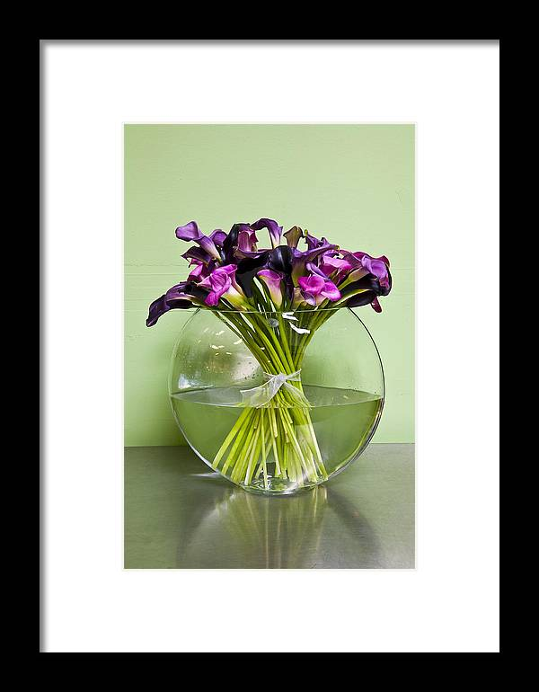 Flowers Framed Print featuring the photograph Calla Lilly Arrangement by Mark Weaver