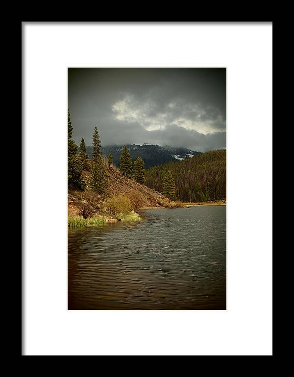 Mountain Framed Print featuring the photograph Calm Before The Storm by Joyce Specht