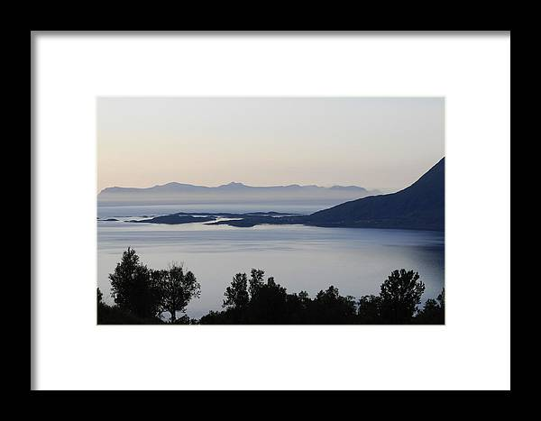 Sea Framed Print featuring the photograph Calm Sea At Sunset In A Fjord In Northern Norway by Ulrich Kunst And Bettina Scheidulin