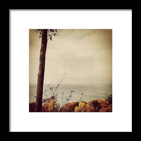 Lake Michigan Framed Print featuring the photograph Calm Waters by Michelle Calkins